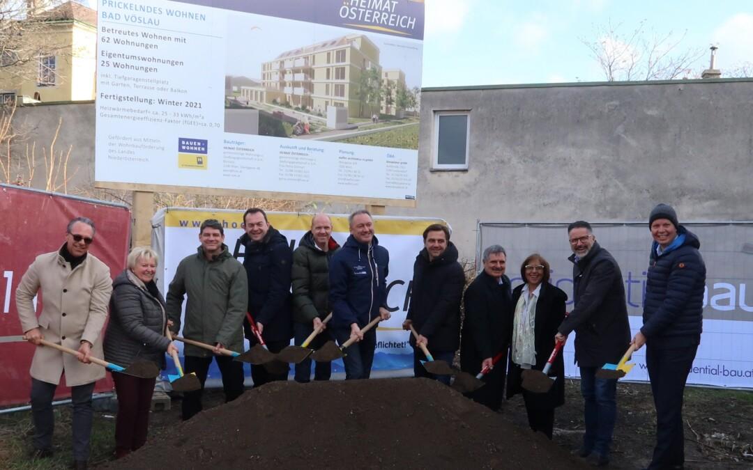 Baustart für 62 Seniorenwohnungen in der Bahnstraße